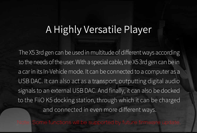 Fiio X5 3rd Gen User Manual